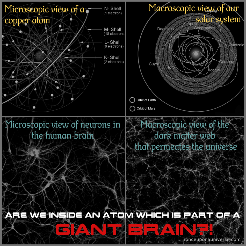 are we inside an atom which is part of a giant brain?!